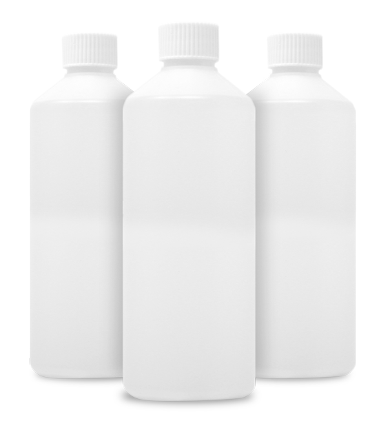 Three five hundred millilitre vegetable glycerine bottles