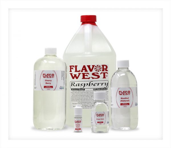 Flavor West Gallon Litre 500ml 100ml 10ml bottles