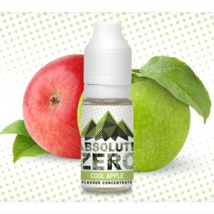 Absolute Zero Cool Apple Flavour Concentrate 10ml bottle