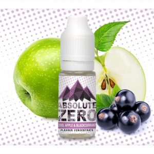 Absolute Zero Cool Apple and Blackcurrant Flavour Concentrate 10ml bottle