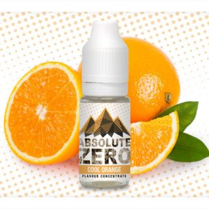 Absolute Zero Cool Orange Flavour Concentrate 10ml bottle