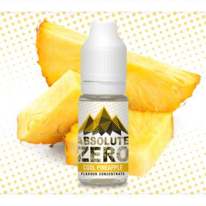 Absolute Zero Cool Pineapple Flavour Concentrate 10ml bottle
