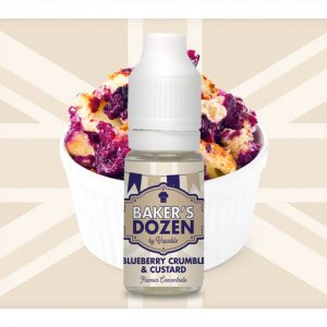 Bakers Dozen Blueberry Crumble and Custard Flavour Concentrate 10ml bottle