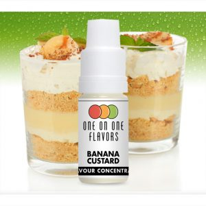 One on One OoO Banana Custard Flavour Concentrate 10ml bottle