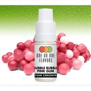 One on One OoO Bubble Bubble Pink Gum Flavour Concentrate 10ml bottle
