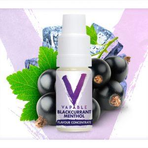 Vapable Blackcurrant Menthol Flavour Concentrate 10ml Bottle