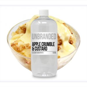 Unbranded Flavour Concentrate Apple Crumble and Custard Bulk One shot bottle