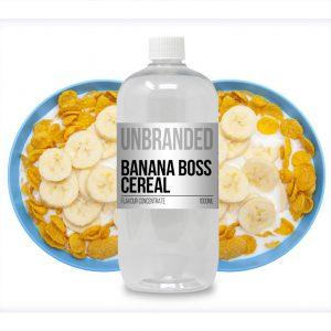 Unbranded Flavour Concentrate Banana Boss Cereal Bulk One Shot bottle