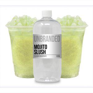 Unbranded Flavour Concentrate Mojito Slush Bulk One Shot bottle