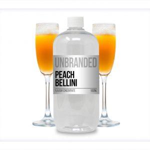 Unbranded Flavour Concentrate Peach Bellini Bulk One Shot bottle