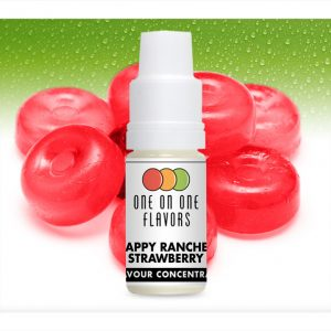 One on One OoO Happy Hard Candy Strawberry Flavour Concentrate 10ml bottle