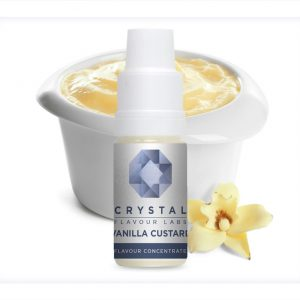 Crystal Flavour Labs Vanilla Custard Flavour Concentrate 10ml bottle