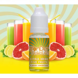 Wonder Flavours Citrus Drink Five Fruits Flavour Concentrate 10ml bottle